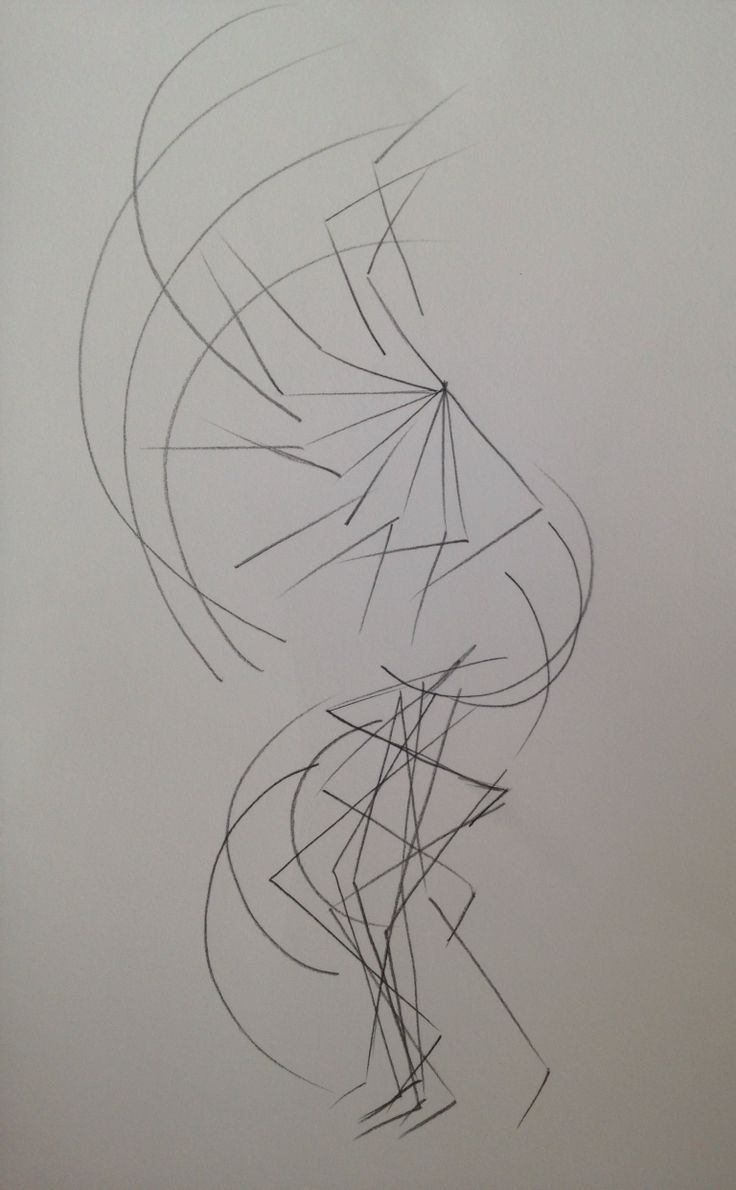 Drawn movement of the body simply shown through simply lines indicating the arms and legs