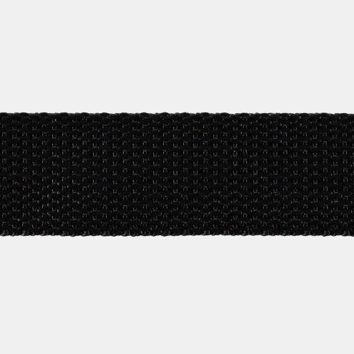 Gjordebånd nylon 25mm sort 5m