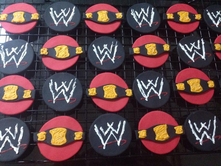Wwe Cupcake Toppers Fondant Creations Pinterest