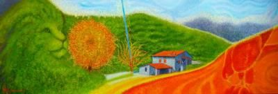 Paesaggio di Larciano San Piero in Bagno Alessio Atzeni Artista