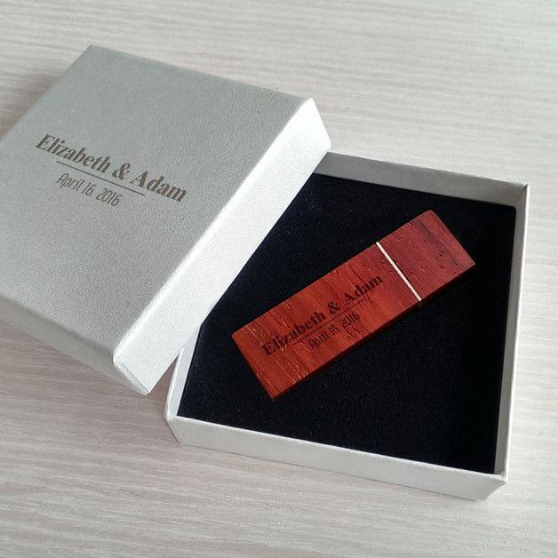 USB-Sticks - USB stick für hochzeitsfotos | Holz 128GB USB 3.0 - ein Designerstück von ZaNa-Design bei DaWanda