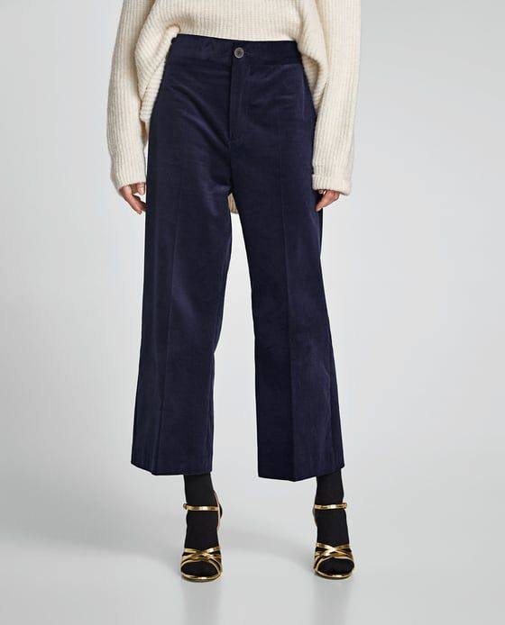4663dbb5 Image 2 of CORDUROY CULOTTES from Zara | clothes in 2019 | Corduroy ...
