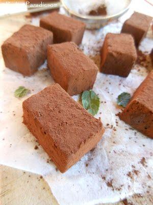 Praliné Paradicsom: Csokis-mentás pillecukor (marshmallow)
