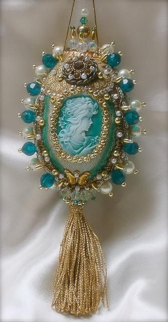Vintage cameo ornament.