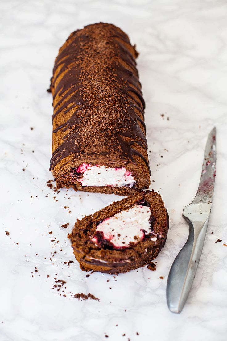 Vegan Black Forest Arctic Roll