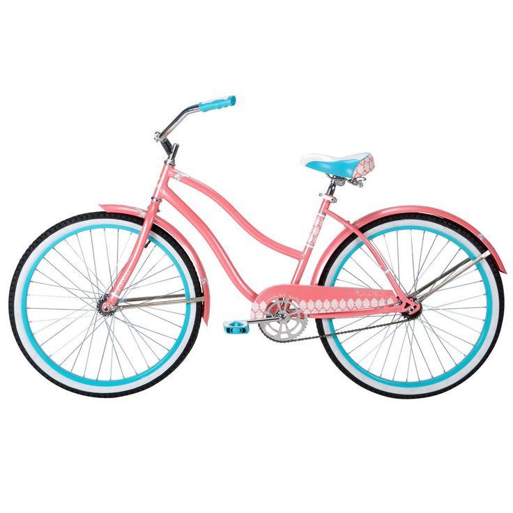 """Womens Beach Cruiser Bike City Vintage Bicycle 1 Gear Light Ladies Pink 26"""" #HuffyBicycles #VintageBeachBicycle"""