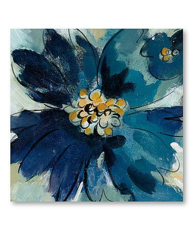 Look at this #zulilyfind! Inky Floral III Wrapped Canvas #zulilyfinds