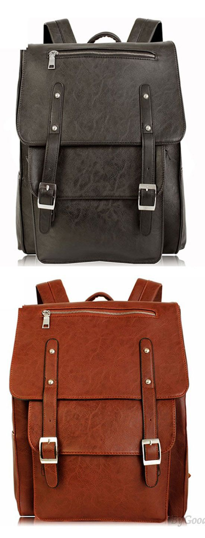 Vintage British Autumn College Rucksack Leather Schoolbag Backpack for big sale! #leather #school #bag #college #rucksack #vintage #leather