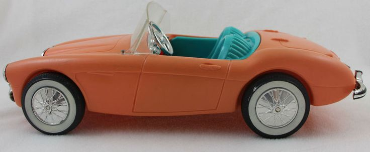 Vtg 1962 Austin Healy Pink Blue Barbie Car #Mattel