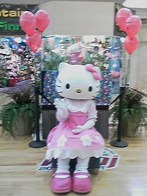 Hello Kitty at the mall