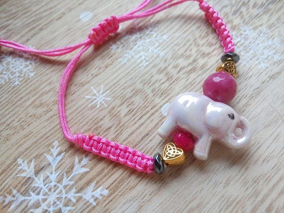 Elephant Bracelet Beaded Bracelet Elephant Jewelry Elephant