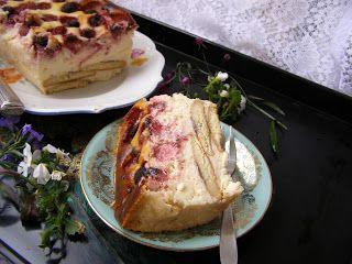 W Mojej Kuchni Lubię.. : aksamitny sernik z truskawkami na biszkoptach piec...