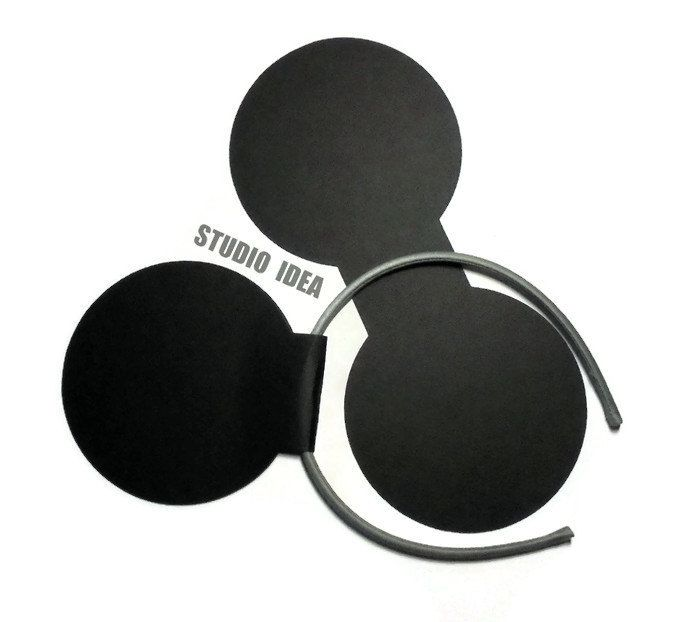 """4"""" Black Mickey Ears for Headband Cut outs - Minnie Ears Cut outs -Black Cut outs or Choose Your Colors-Set of 10pcs(5 pairs),20pcs(10pairs) by StudioIdea on Etsy"""