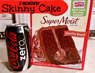 2 Ingredients Dry Cake Mix Amp Diet Soda Makes A Fluffy