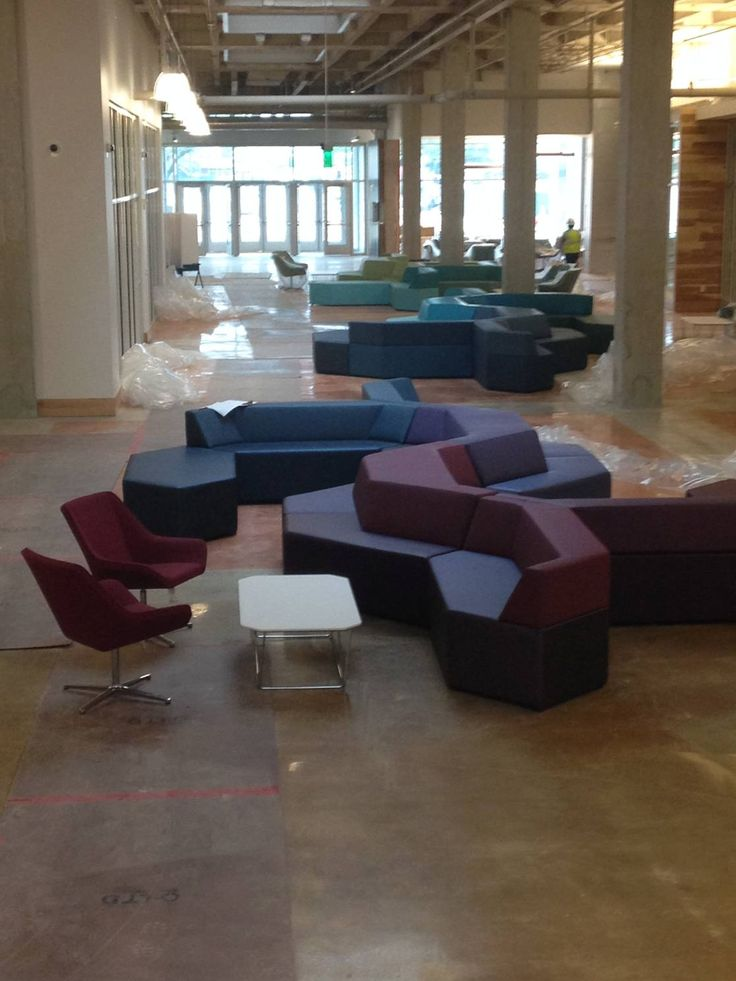 Htspotted Prism Modular Lounge System Being Installed At