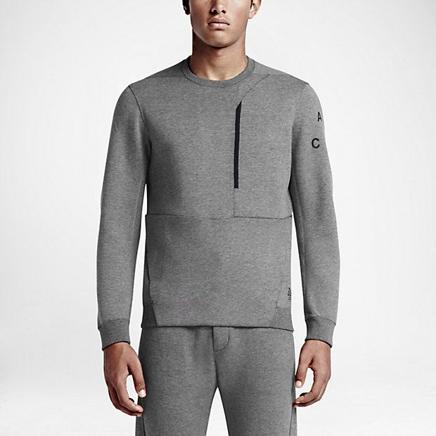 nikelab acg tech fleece crew men 39 s sweatshirt clothing. Black Bedroom Furniture Sets. Home Design Ideas