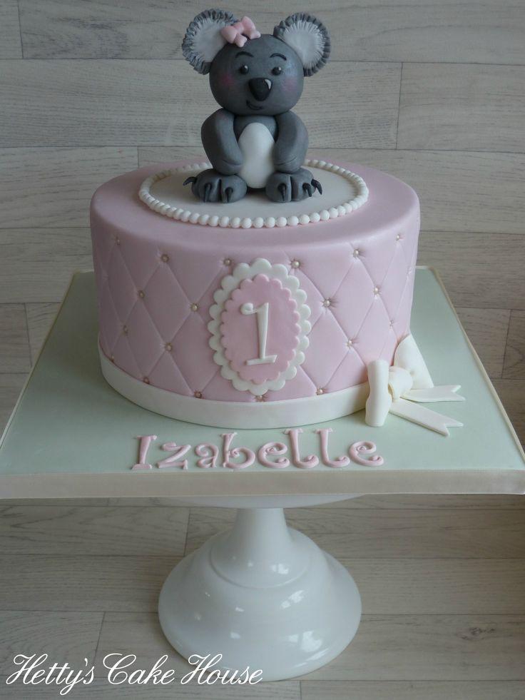 Cute koala bear 1st birthday cake (Hetty's Cake House)
