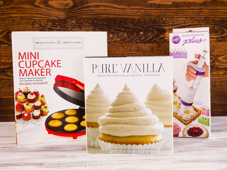 Win a Baking Package including Mini Cupcake Maker, Pure Vanilla Cookbook and Wilton Dessert Decorator! #contest #giveaway #prize