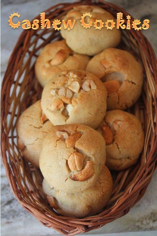 YUMMY TUMMY: Eggless Cashew Cookies Recipe / Cashew Butter Cookies Recipe
