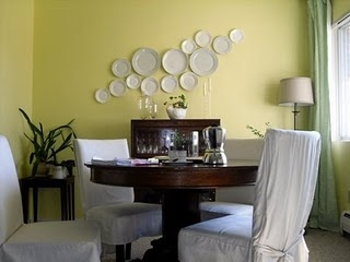 I'm doing the plate wall in my kitchen, but with mismatched plates.
