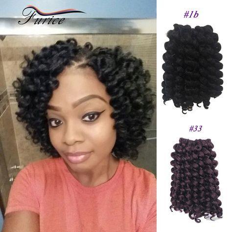 8 Inch 75g/pc Jump Wand Curl Braiding Crochet Hair ... - photo #44