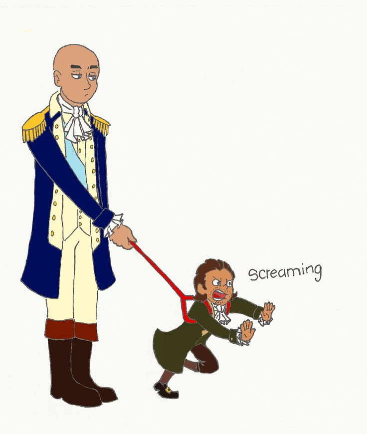 Hamilton and Washington's relationship in a nutshell