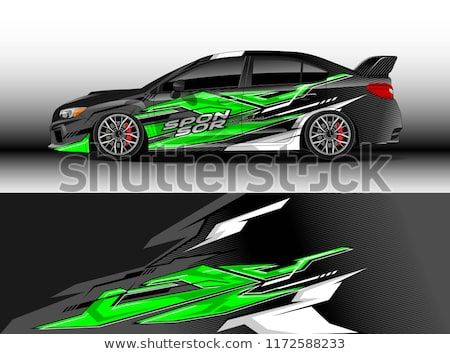 Find Car Decal Wrap Design Vector Graphic Abstract Stripe Racing