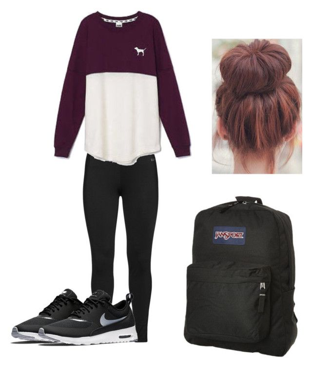 #8 by sarah-e11 on Polyvore featuring polyvore, fashion, style, Victoria's Secret, Studio, NIKE and JanSport