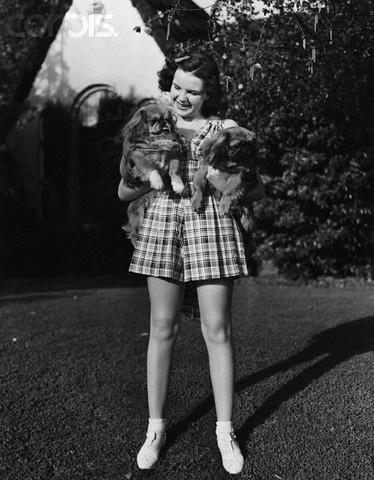 Judy Garland and Pekes