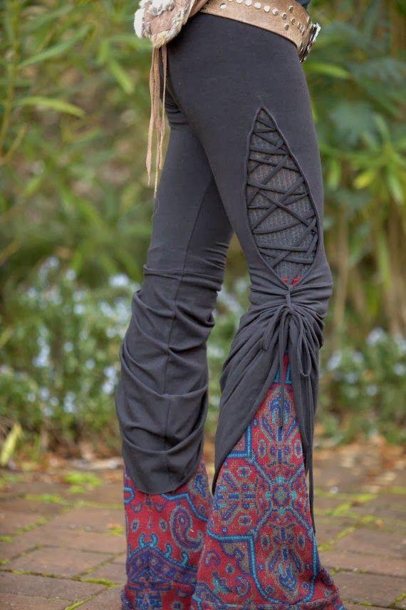 Stained Glass Teardrop Dance Pants - in Black