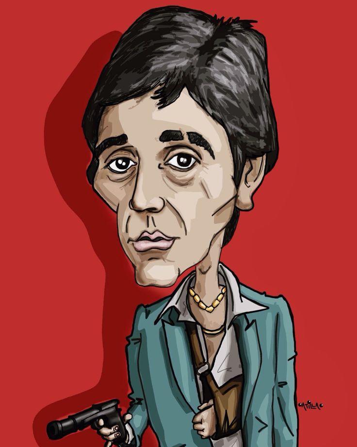 Al Pacino #scarface #alpacino  #caricature #cartoon #illustration #drawing