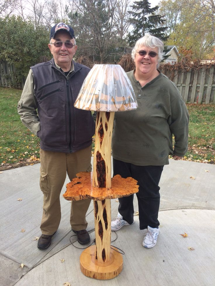 One Of A Kind Diamond Willow Floor Light With A Birch Burl