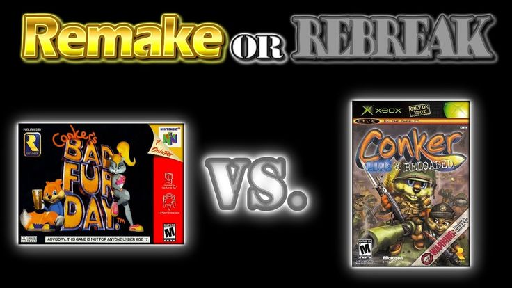 ROR: Conker's Bad Fur Day (N64) Vs. Conker Live and Reloaded (Xbox) + Ra...