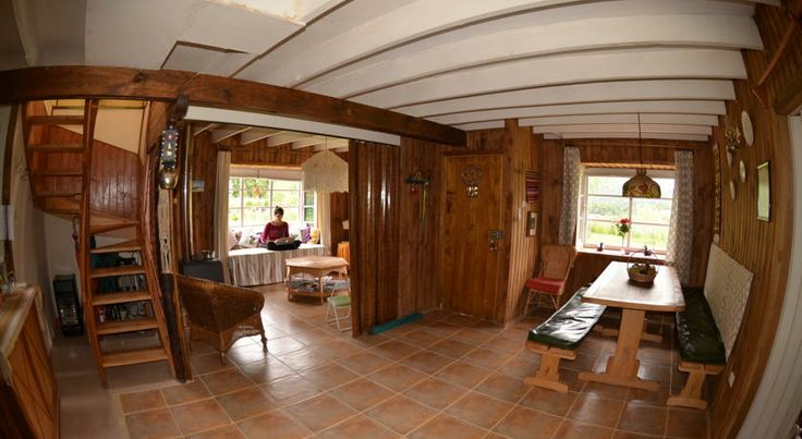 Community area of the bed & breakfast. http://hostallagringacarioca.cl/