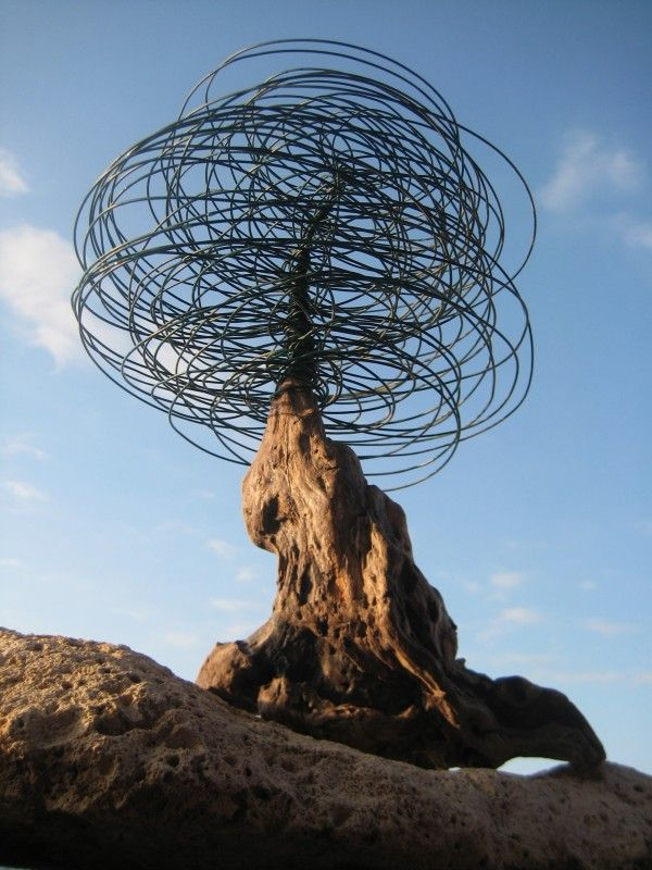 ♀ Environmental recycle art Cable tree... in art  with Tree Sculpture Cable Art