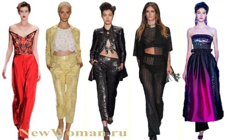 10 модных новогодних образов 2016: с юбками, топами, брюками, блузками