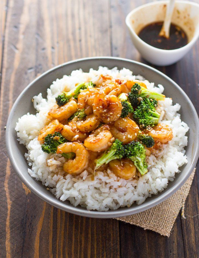 Easy Honey Garlic Shrimp and Broccoli 6 COMMENTSFEBRUARY 11, 2016 Quick, simple and delicious. This honey garlic shrimp and broccoli is made using only 6 ingredients and is ready in under 10 minutes. This is honey garlic shrimp is one of my favorite Asian dishes to make because it's super easy to put together in and is ready in no time. Serve it on sticky white rice or with a side of noodles. If you're on a low-carb diet, try serving it with a side of veggies, spiralized zucchini noodles…