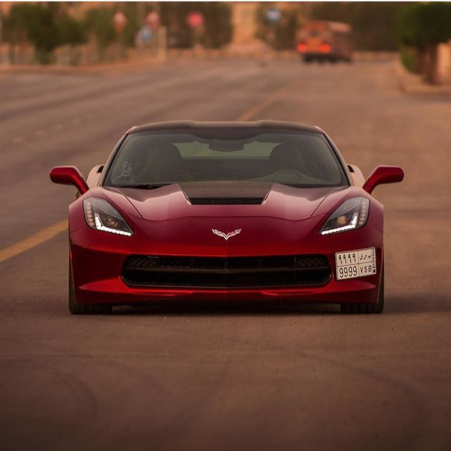 Owner C7 9999 Photo By Fohamad سياره امريكي Corvette قومه تفحيط هولدن كابرس كمارو لومينا تيربو هدرز C7 ك Corvette Corvette C7 My Dream Car