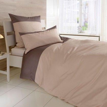 """#beds #bedlinen Uni Mako-Satin Elegance 5 Sabbia/Nuss Kissenbezug einzeln 35x40 cm: """"Die Uni Mako-Satin Bettwäsche in… #mattresses #pillows"""