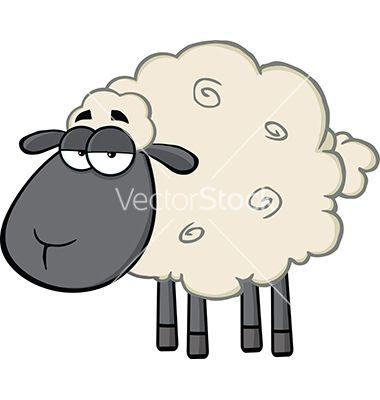 how to draw a cartoon lamb
