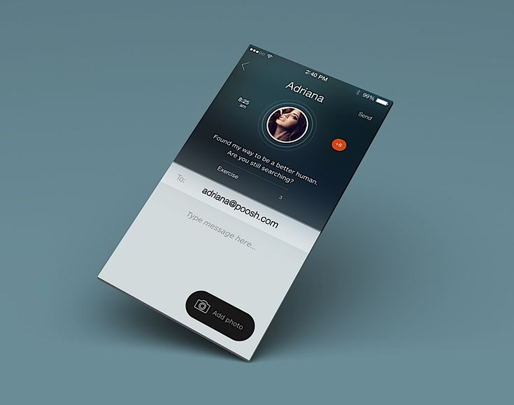 Mixed User Interface Design Inspiration by Julia Khusainova