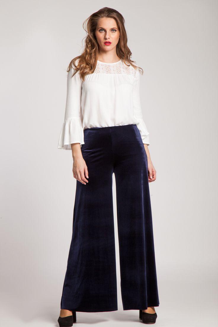 #pantaloni #catifea #pantalonicatifea #catifea #bleumarine #colors #style #love #fashion