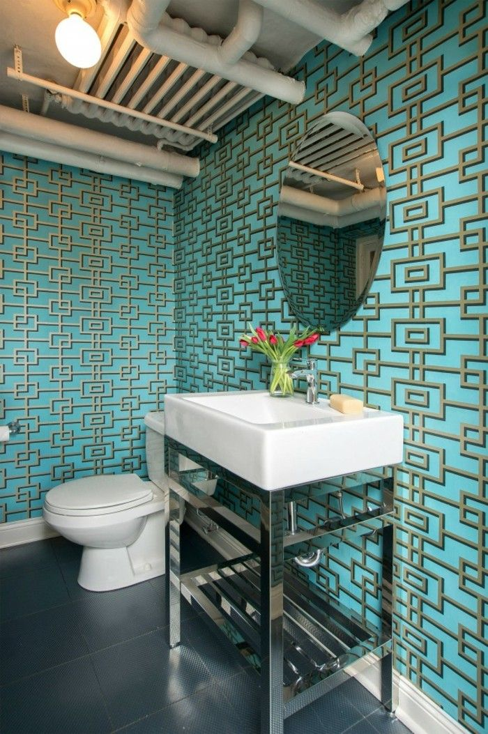 17 best images about salle de bain on pinterest belle turquoise and bathroom rugs. Black Bedroom Furniture Sets. Home Design Ideas