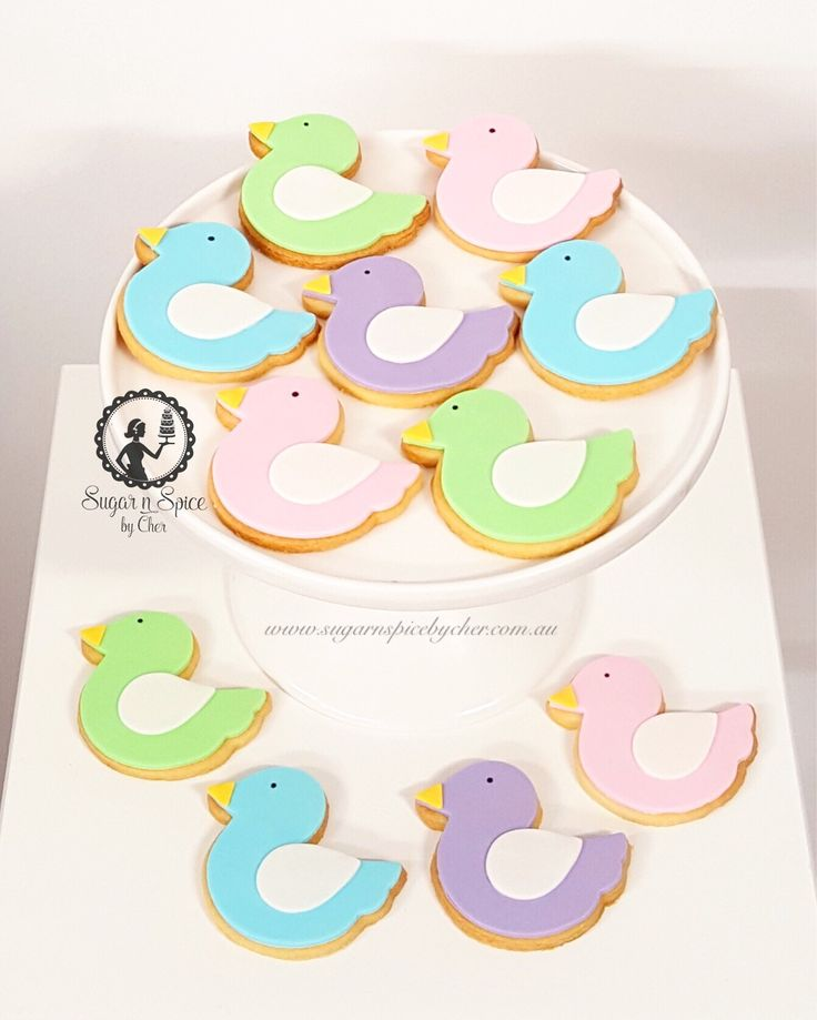 Bird cookies in an array of pastel colours #sugarnspicebycher