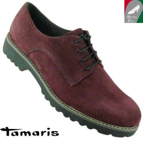 Tamaris női bőr cipő 1-23204-25 549 bordó