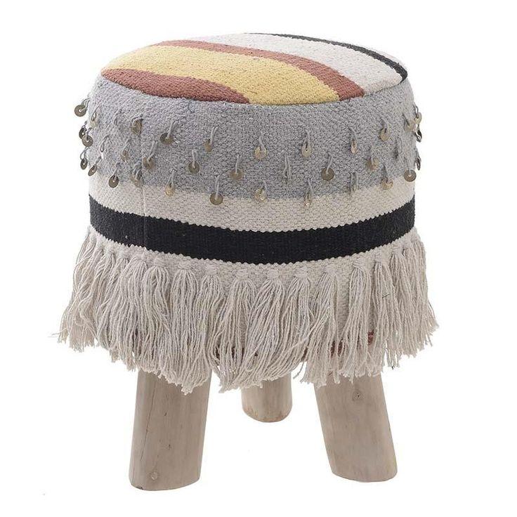 Табуретка с 3 крака в бохо стил / #мебели #обзавеждане #декорация
