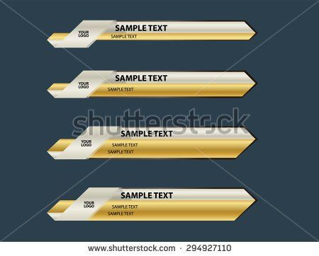stock-vector-gold-lowerthird-banner-294927110.jpg (450×362)