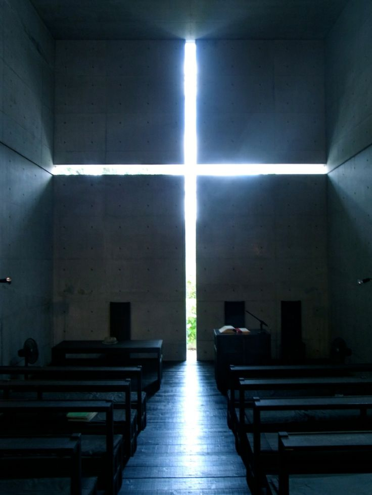 "Church of the light (sometimes called ""Church with Light"" ""光の教会"")                 Tadao Ando (安藤忠雄)                    Ibaraki, Osaka Prefecture."