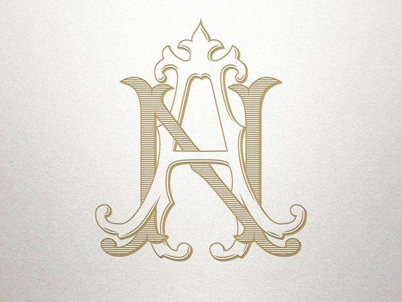 Vintage Wedding Monogram An Na Wedding Monogram Digital Etsy Alphabet Wallpaper Monogram Wedding Monogram Tattoo