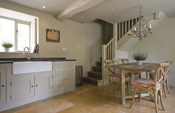 Open-plan country kitchen.